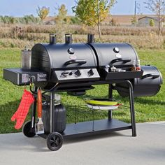 New BBQ Grill Gas Charcoal Smoker Heavy Duty Steel Construction with Cover  #BBQGrill