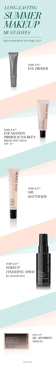 Prep and prime skin for summer, and all year long! These four products are must-haves to help makeup last and protect your skin during warm months. | Mary Kay