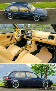 Volkswagen Golf GTi in Blau Volkswagen Golf Mk2, Volkswagen Type 3, Golf 1 Gti, Vw Golf 3, Vw Mk1 Rabbit, Vw Cabriolet, Jetta A2, Custom Car Interior, Vw Cars