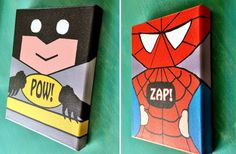 GroopDealz | 8 X 10 Superhero Canvas - 3 Choices!