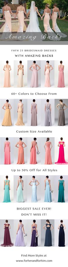 FHFH bridesmaid dresses with amazing backs! All styles are on Crazy Spring Sale now, don't miss it!