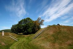 Fort Anne National Historic Site of Canada in Annapolis Royal, Nova Scotia. Love the rolling hills complete with stairs.