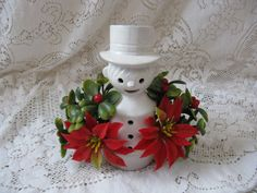vintage ceramic snowman caroler eo brody made by rivertownvintage