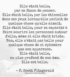 Pour toi Jolie Phrase, Wise Words, Cool Words, Text Quotes, Love Quotes, Inspirational Quotes, Scott Fitzgerald, Dire, Ainsi