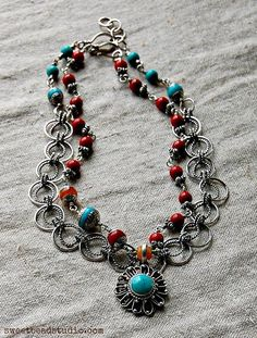 Pura Vida necklace by Cindy Wimmer featured in Easy Wire magazine.