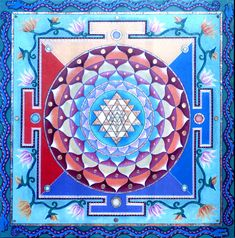 Paul Heussenstamm's Sri Yantra Mandala~~AUM (OM) as it is written in Sanskrit. ~The basis of all sounds; universal symbol-word for God. Aum of the Vedas became the sacred word Hum of the Tibetans; Amin of the Moslems; and Amen of the Egyptians, Greeks, Romans, Jews and Christians. Aum is the all-pervading sound emanating from the ... Invisible Cosmic Vibration; God in the aspect of Creator. ~~ Paramahansa Yogananda. ~~ It's Sacred Geometry symbolizes the feminine creative aspect of sacred…