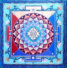 Paul Heussenstamm's Sri Yantra Mandala~~AUM (OM) as it is written in Sanskrit…