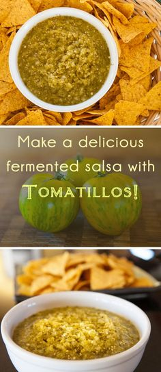 This tomatillo salsa recipe is great on its own, but when allowed to ferment a bit, it takes off to an entirely different level. Tomitillo Recipes, Hot Sauce Recipes, Real Food Recipes, Healthy Recipes, Real Foods, Kefir, Kombucha, Tomatillo Salsa Recipe, Bio Vegan