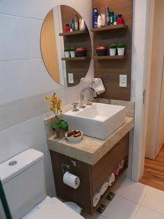 Floating Shelves Bedroom, Wooden Floating Shelves, Floating Shelves Kitchen, Washroom, Bathroom Storage, Bathroom Interior, Small Bathroom, Save Water, Casa Clean