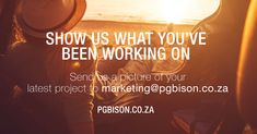 Send a picture and your work could be featured on our digital magazine or social media pages! #inspiration #projects #PGBison