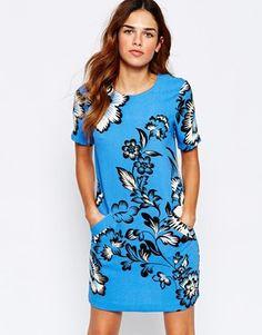 Enlarge Warehouse Printed T-shirt Dress