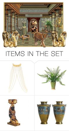 """Egyptian Art"" by flowerchild805 ❤ liked on Polyvore featuring art"