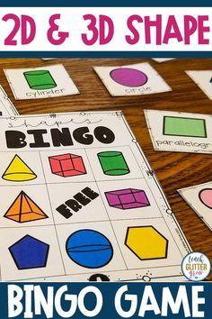 Easy-To-Make Homemade Bubble Recipe - Shape Activities Kindergarten, Kindergarten Curriculum, 2d And 3d Shapes, Solid Shapes, Shape Games, Homemade Bubbles, Second Grade Math, Creative Teaching, Elementary Math