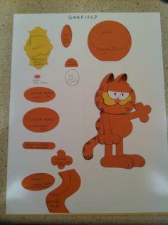 Garfield Punch Art Design by Lynda Gustafson