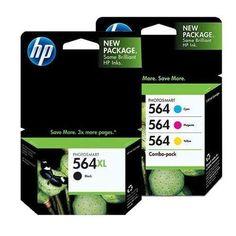 HP 564XL (CN684WN#140) Black + HP 564 (CD994FN#140) Cyan/Magenta/Yellow Color Combo Pack OEM Genuine Inkjet/Ink Cartridge - http://www.newofficestore.com/hp-564xl-cn684wn140-black-hp-564-cd994fn140-cyanmagentayellow-color-combo-pack-oem-genuine-inkjetink-cartridge/