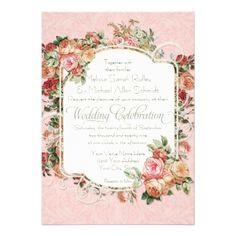 gold and cream weddings invites - Google Search