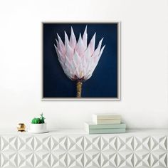 King Protea Print Pale Pink and Navy Photograph Jewel Tones Botanical Flowers, Tropical Flowers, Protea Art, King Protea, Navy Walls, Flower Sketches, Pink Tone, Jewel Tones, Flower Prints
