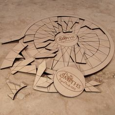 Bicycle Spoke Laser Cut Wooden Geometric Puzzle by TheCraftySmiths, $24.00