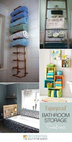 Repurposed Bathroom Storage Solutions! • Ideas & Tutorials!