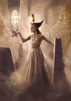 The Goddess Isis - Iset by Erebus-art.deviantart.com on @DeviantArt
