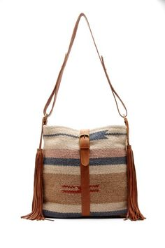 wool + leather bag