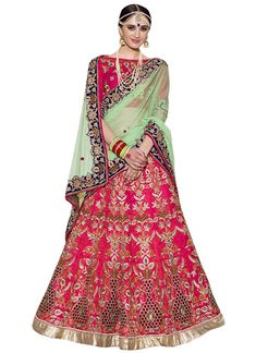 9afb5243f6 This amazing Pink Nylon net Lehenga Choli is a dream come true for every  Bride to