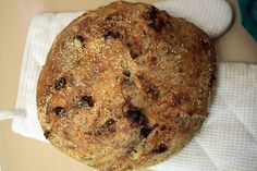 no knead bread with dried cranberries and walnuts by lindseyfrances, via Flickr