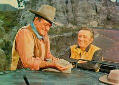 "John Wayne y Kirk Douglas en ""Ataque al Carro Blindado"" (The War Wagon), 1967 Kirk Douglas, Classic Hollywood, Old Hollywood, Iowa, Cowboy Films, John Wayne Movies, Classic Movie Stars, Classic Movies, Tv Westerns"