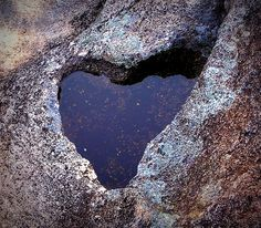 Heart rock. Natural heart shaped space in the granite. So beautiful...just stunning!!