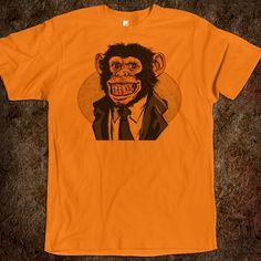 Orange chimp t-shirt