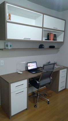 Most Popular Study Table Designs and Children's Chairs Today Home Office Space, Home Office Design, Home Office Furniture, Home Office Decor, Interior Design Living Room, House Design, Home Decor, Study Table Designs, Study Room Design