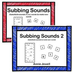 Word Ladders Substitute Sounds to Make New Words BUNDLE. 20 Activity Cards. Can be used in small groups or literacy centers. Subbing Sounds 2 includes clues to build vocabulary!