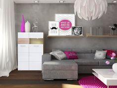 Salon - mieszkanie dla singielki