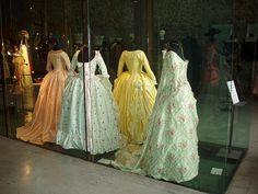 Dresses from Marie Antoinette, Exhibition Scuderie Aldobrandini, Frascati, Italy