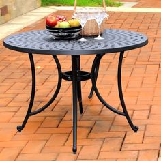 Rectangular 74 X 42 Inch Patio Dining Table In Mocha Brown With Center  Umbrella Hole | Patio Life | Pinterest | Mocha Brown And Products