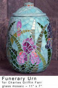 "Funerary Urn by Aurora Mahassine San Francisco, California, who says her goal is to ""create beautiful work that honors nature glorifies the human spirit."""