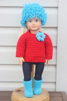 Made this for my granddaughter's Dr Seuss tea party.  Loopy Sweater Hat and Boots Collection by PeanutButterJelliez