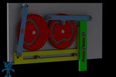 Gears-Cams-Sliders Hammer Mechanism - SketchUp,Parasolid,SOLIDWORKS,Autodesk 3ds Max,OBJ,STEP / IGES,STL - 3D CAD model - GrabCAD