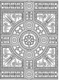 advanced coloring pages for adults | coloring page Tiles - Tiles