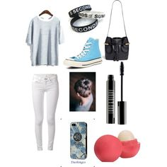 5sos fan girl by iheartharlo on Polyvore featuring polyvore, fashion, style, rag & bone, Converse, Chloé, Samsung, Lord & Berry and Eos