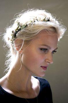amandabergerkettner: Charlotte Hoyer backstage at Dolce & Gabbana S/S 2014