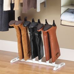 Whitmor 3-Pair Boot Organizer In White