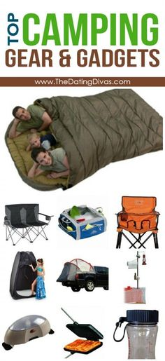 TOP Camping Gear Gadgets for the next family camping trip >> I can't decide if this big sleeping bag is a good idea or not. Sometimes in a tent you need a little space of your own...
