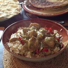Home made Thai green curry