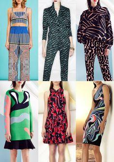 Resort 2015   Catwalk Print  Pattern Trend Highlights Clover Canyon / Escada / Issa / Issa / Proenza Schouler / Hervé Léger