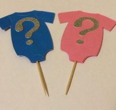 Gender Reveal Cupcake Toppers on Etsy, $10.00