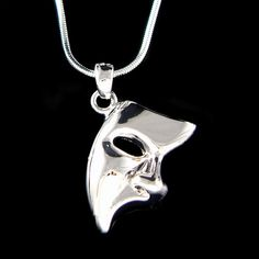 Phantom of the Opera Masquerade Mask Pendant Charm Necklace Christmas Best Friend Gift New on Etsy, $35.00