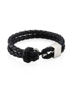 Beacon Braided Leather Double Wrap Bracelet Na Pinterest
