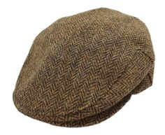John Hanly & Co. Irish Tweed Flat Cap - Brown Herringbone - Made in Ireland at Amazon Men's Clothing store: Hats