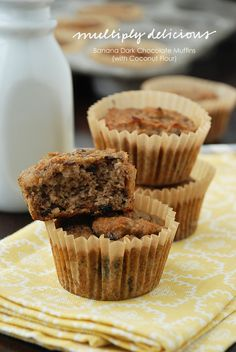 Banana Muffins (with coconut flour) #paleo